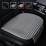 Car Seat Cushion,Buckwheat Hulls Car Seat Covers,Ventilated Breathable Comfortable Car Cushion,Anti-skid Four Seasons General Suninbox Car Seat Protector [Gray Front Seat]