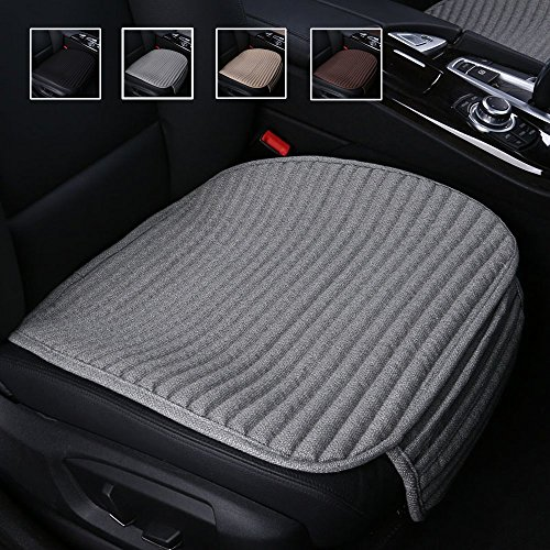 Suninbox Car Seat Cushion,Gray Car Seat Covers,Buckwheat Hulls Car Seat Pads Mat for Auto,Universal Bottom Driver Car Seat Protector Ventilated Breathable Comfortable[Gray Front Seat] ()