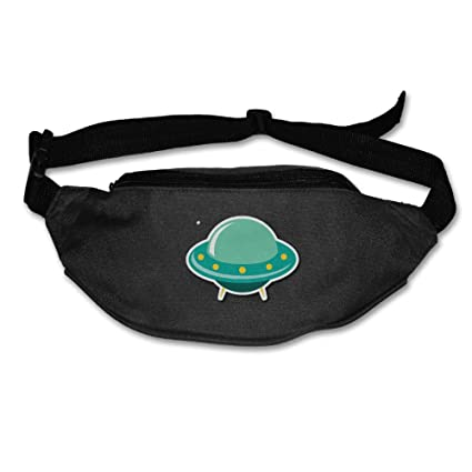 262a21b5a07f Amazon.com : Alone Waist Bag Fanny Pack Cartoon Green UFO Unisex ...