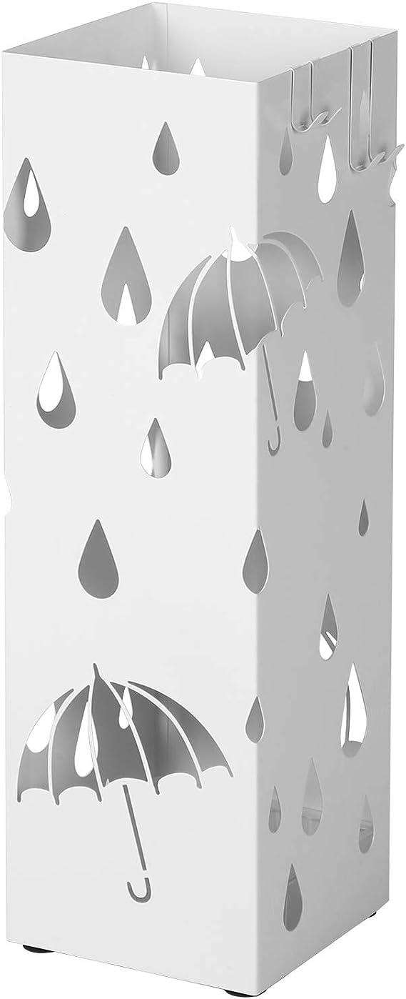 15.8 lyrlody Portaombrelli Stand in Ferro,Porta Ombrelli in Metallo,Portaombrelli Quadrato,Supporto da Appoggio per Ombrellone,Nero,15.8 49cm