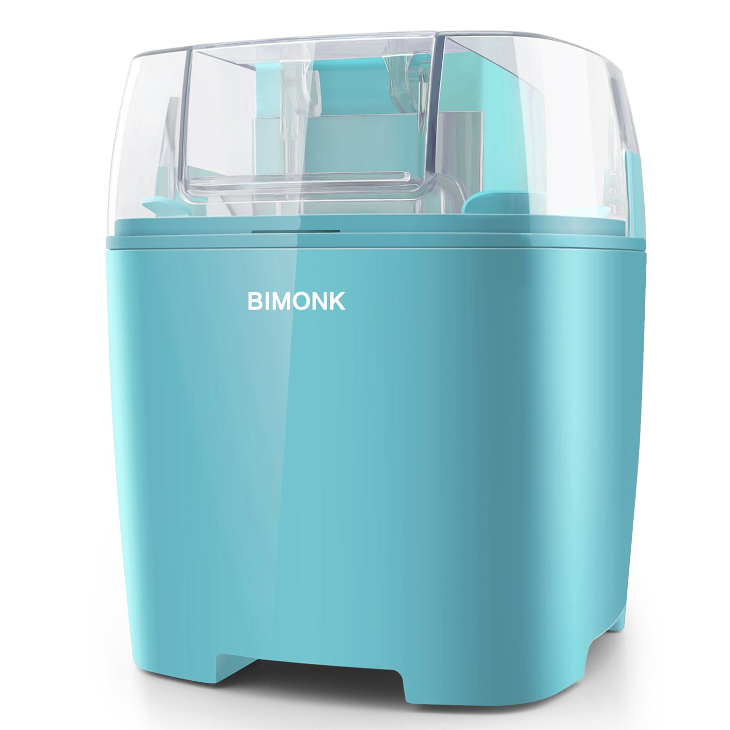 BIMONK Ice Cream Maker, for Kids DIY Frozen Yogurt, Gelato Or Sorbet Maker, with Control Knob and Auto Shut Off, BPA Free Electric ice Cream Machine for Home - 1.5 Quart, Blue …