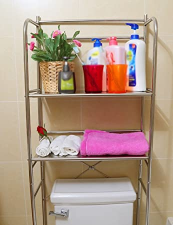 Lagerregale Anna Regale Edelstahl Toilettengestelle Badezimmer Sammlung  Endgestelle Waschmaschine (Farbe : Zwei Schichten