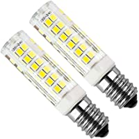 Kakanuo E14 LED Bulb 5Watt Equivalent 50W Cool White 6000K Cooker Hood 450Lumens AC220-230V Non Dimmable Small Edison Screw 75PCS 2835SMD (Pack of 2)