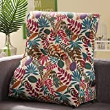 Vercart Sofa Bed Large Upholstered Headboard Filled Triangular Wedge Cushion Bed Backrest Positioning Support Pillow Reading Pillow Office Lumbar Pad with Removable Cover Mixed Color 18x22 Inches