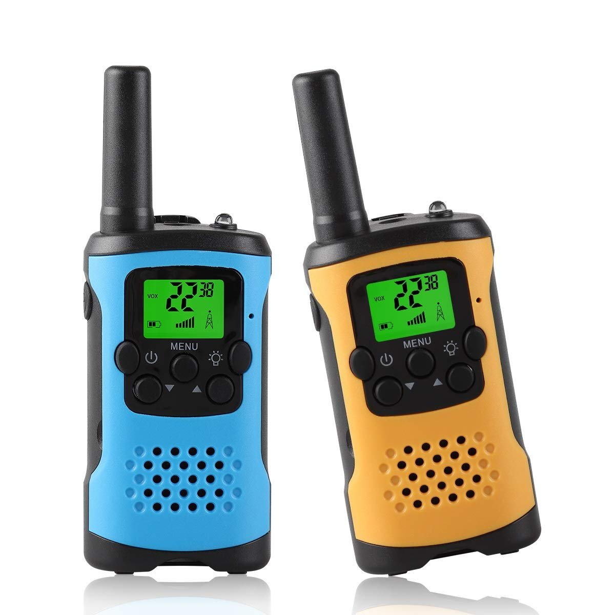 WES TAYIN Upgraded Walkie Talkies for Kids, Kids Two Way Radios Toys with 22 Channels, Kids Walkie Talkies with VOX Hands Free and LED Flashlight ,Best Birthday Holiday Toys for Kids