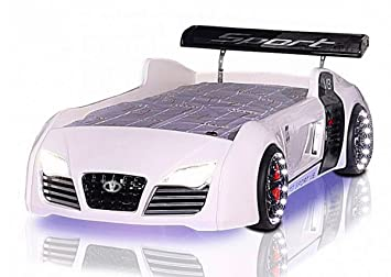 Autobett Racing Star mit LED Beleuchtung, Sound & Fernbedienung ...