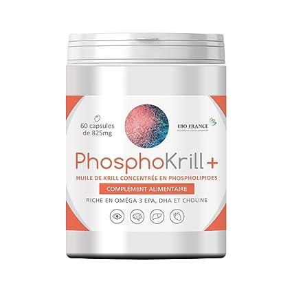 phosphokrill + recinto de 60 Cápsulas – Aceite de Krill concentrée en phospholipides Superba Boost –