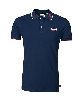 4f3209a72 Lonsdale Men´s Slim-fit Tipped Pique Lion Polo Shirt 100% Cotton ...