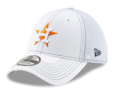 super popular 7aff3 09061 Image Unavailable. Image not available for. Color  New Era Houston Astros  MLB 39THIRTY White Team Neo Flex Fit Hat