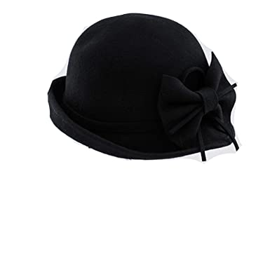 Felt Hats for Women Hats Vintage Church Big Bow Cappello bombetta Chapeau  feutre caf332bd591
