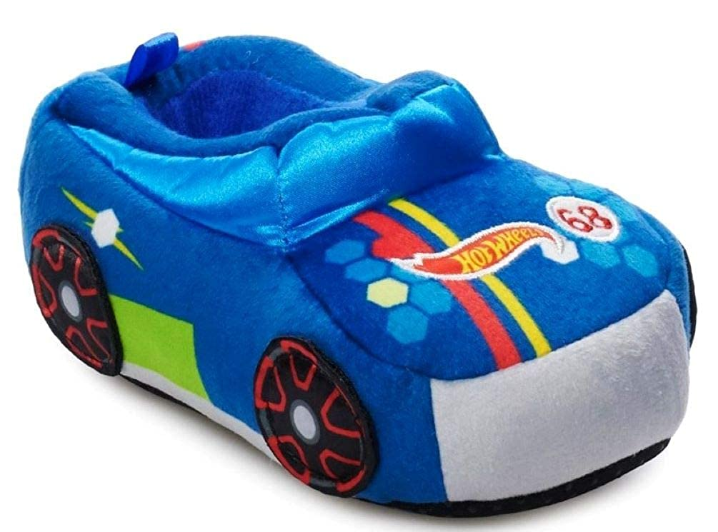 Hot Wheels Race Car Slippers for Kids; Acrylic Sole Toddler Slippers