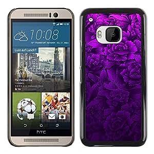 TECHCASE**Cubierta de la caja de protección la piel dura para el ** HTC One M9 ** Purple Floral Spring Lilac Petal Nature
