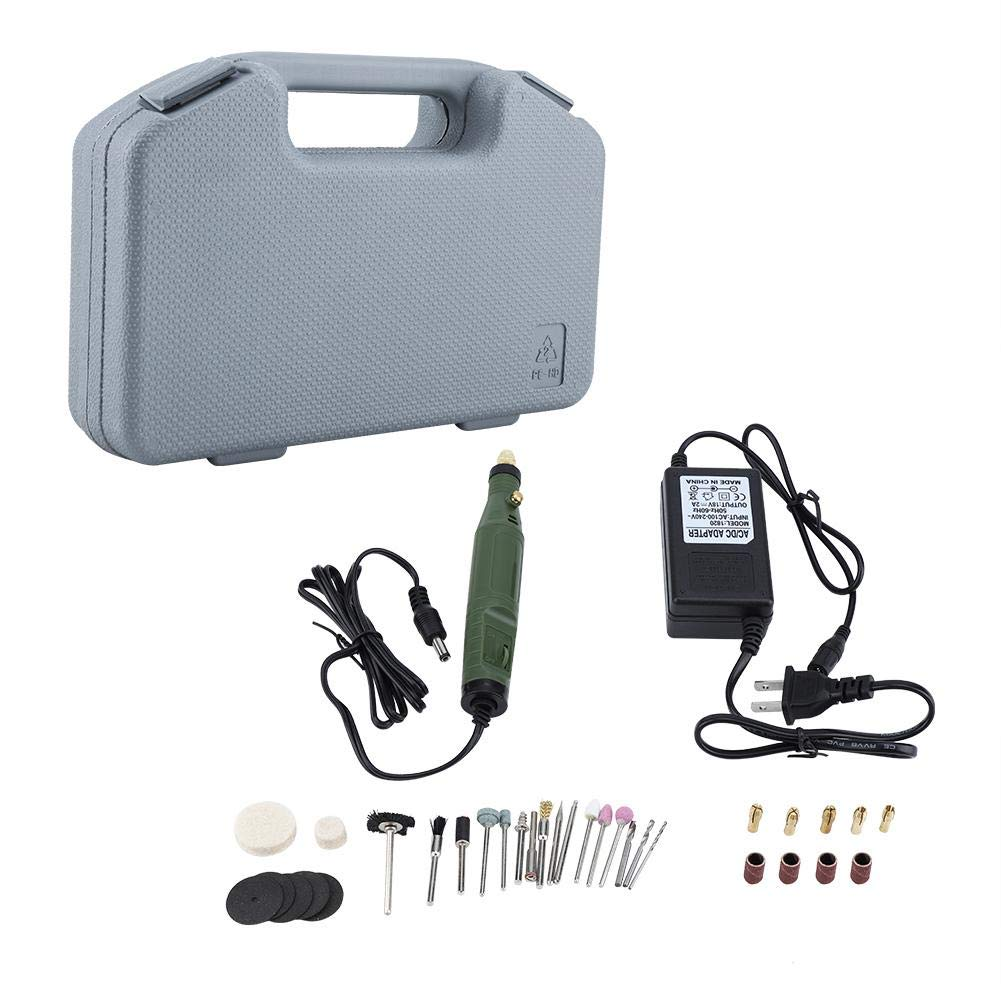 Rotary Tool Kit Mini Electric Grinder AC 100-240V Trimming Polishing Drilling Cutting Engraving Tool for House and Crafting Projects by Wal front