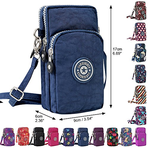 Bag Mini Blue Handbags Purse Navy Multifunction Phone Wocharm Crossbody Wristlet New Cell OIwqYP