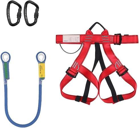 SSCYHT Kit de arnés de Escalada con Cuerda y mosquetones ...