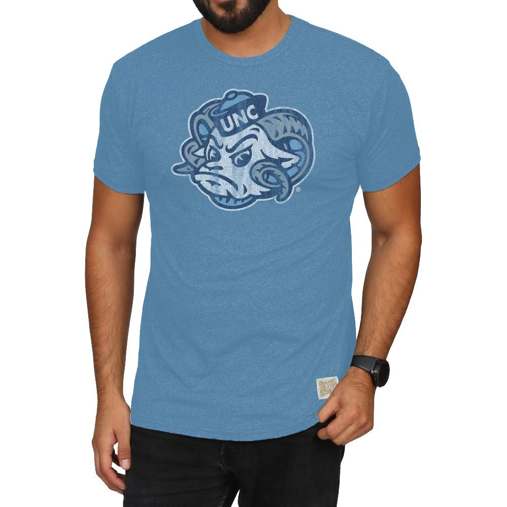 North Carolina Tar Heels blueee Small Elite Fan Shop NCAA Mens Retro T Shirt Soft