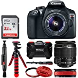 Canon EOS Rebel T6 DSLR Camera + EF-S 18-55mm f/3.5-5.6 IS II Lens + 32GB Memory Card + 58mm Lens Filter & Cap + Flexible Tripod + Vivitar Card Holder + Lens Band + Cleaning Pen – Deluxe Bundle