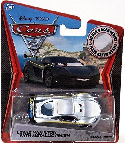 Disney PIXAR Cars 2 Lewis Hamilton With Metallic Finish Silver Racer Series KMart