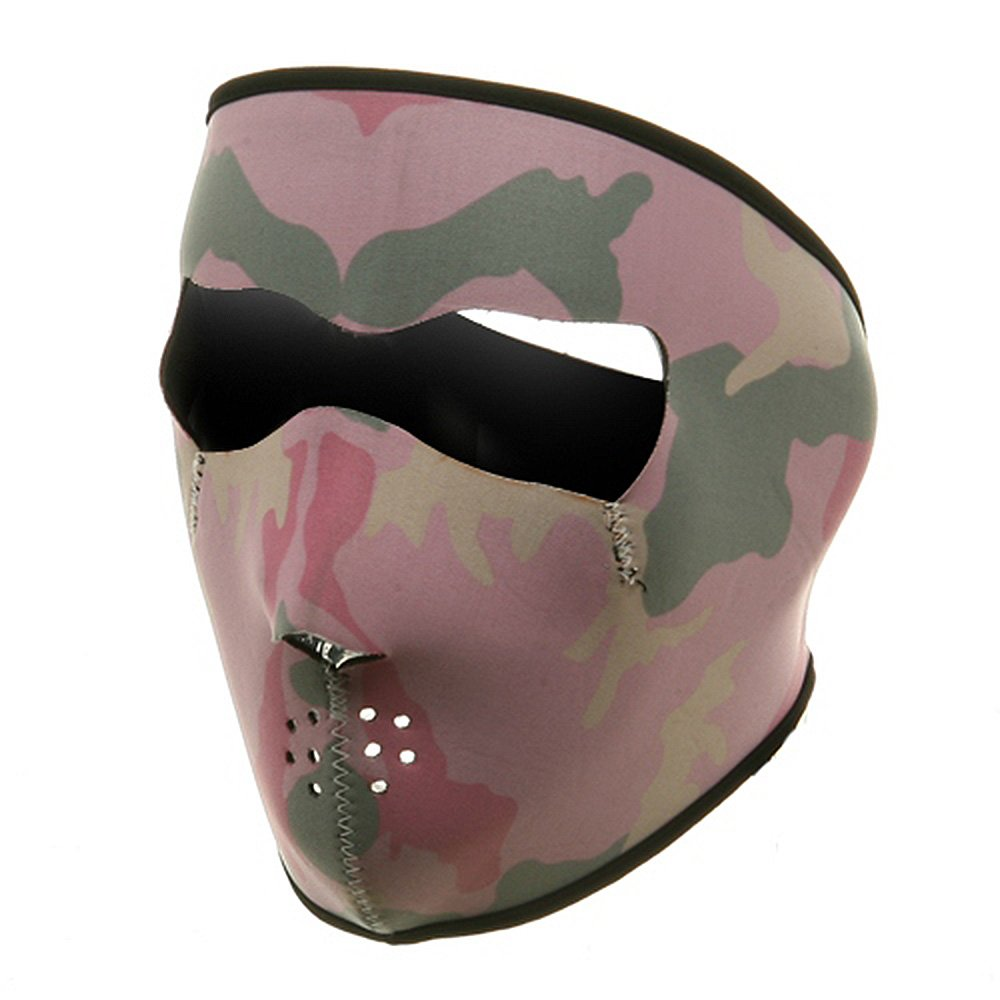 Neoprene Full Face Mask-Pink Camo W11S23D