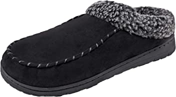 d2634dd42 Urban Fox Slippers for Men - Micro Suede Jackson | House Shoes I Rubber-Sole