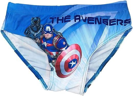 Costume da Bagno Avengers Parigamba Mare da 4 a 10 Anni Estate 2020 6 Anni, Blu