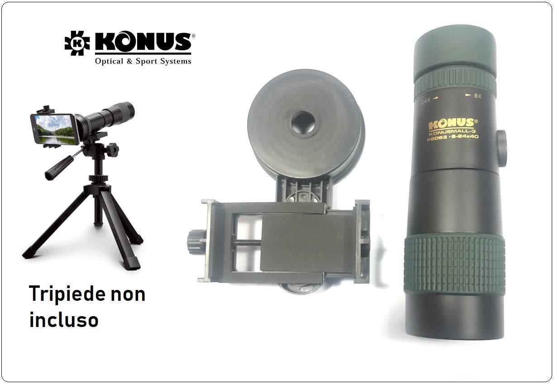 Monocular profesional Zoom 8-24 x 40 x con adaptador universal para Smartphone para Investigación Appostajes Konus Konusmall-3 Art. 2063: Amazon.es: Industria, empresas y ciencia