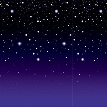 40ft Star Starry Night Sky Scene Setter Christmas Room Roll Decoration Backdrop