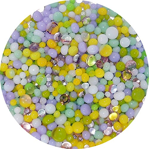 Spring Designer Collection Mix Frit Balls - 90COE, New Larger 1oz Size - Made from Bullseye Glass New Hampshire Craftworks