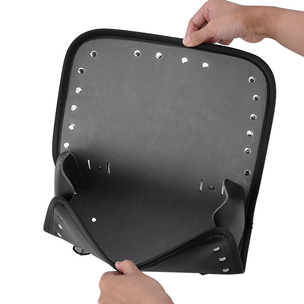 Sac /à outils pour fourches avant et arri/ère en cuir universel pour moto EBTOOLS Sac de selle de moto