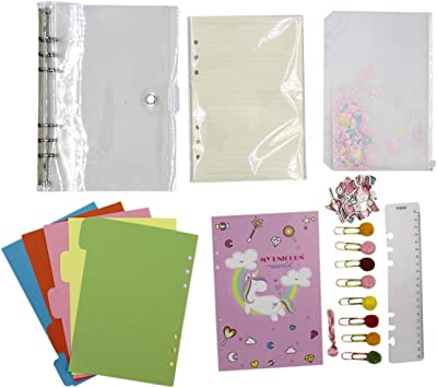 Amazon Com Clear Pvc 6 Rings Loose Leaf Personal Journal Diary