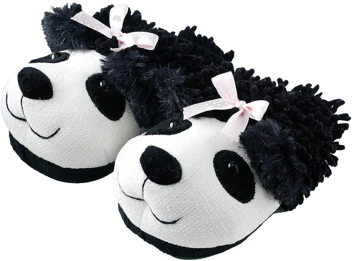 Animal World - Panda Fuzzy Friends Unisex Adult Size Slippers