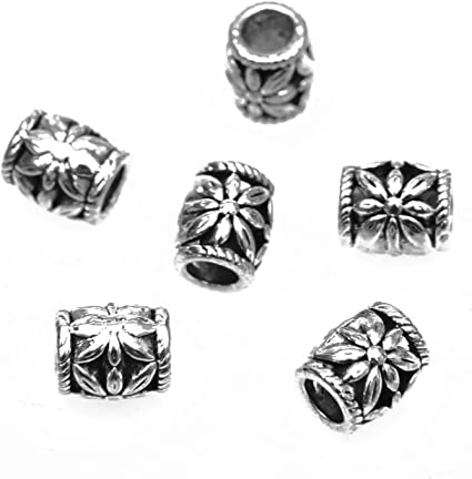 10 x 9 MM~5 MM HOLE ANTIQUE SILVER~HEART~EUROPEAN CHARM~ METAL BEADS