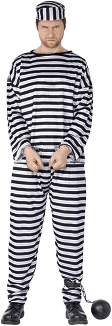 Enerhu Disfraz de Halloween, prisión, Ropa a Rayas, Juez de la ...