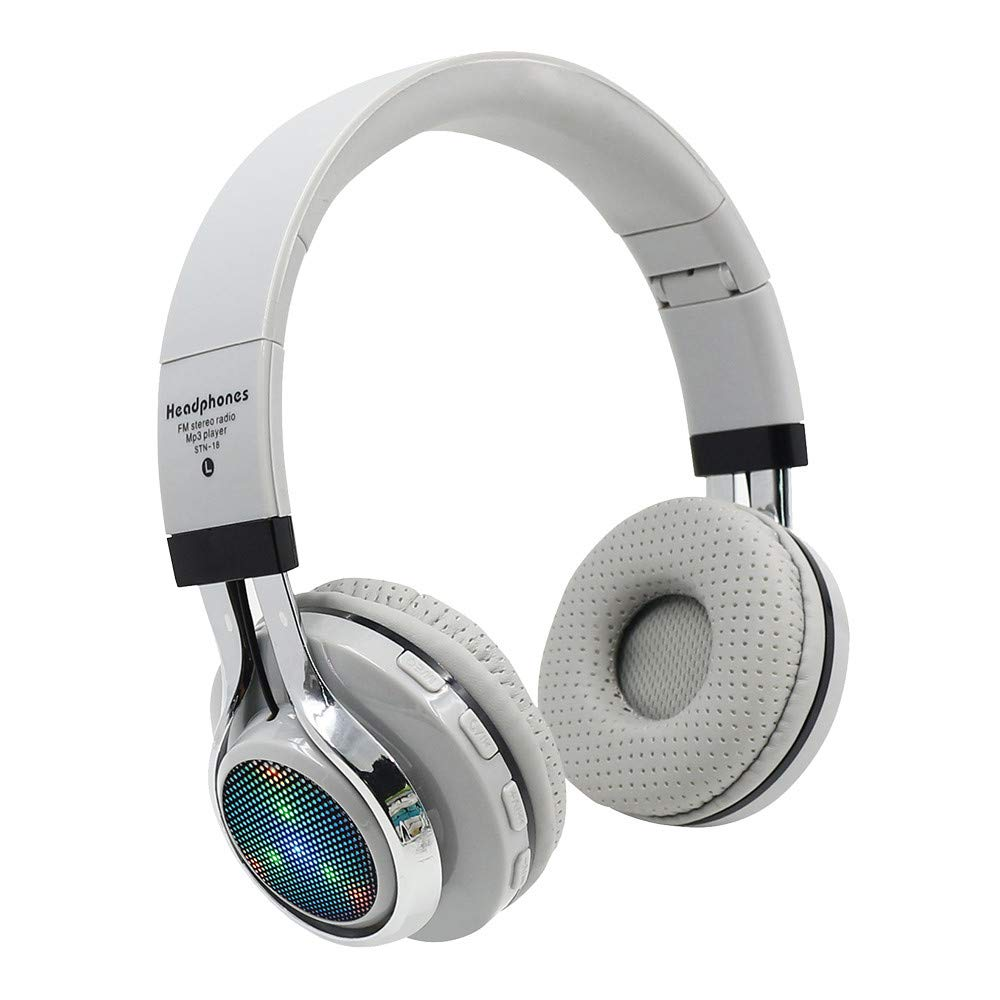 Sonmer STN-18 Wireless Bluetooth 4.1 Noise Cancelling Stereo Foldable Over Ear Headphone,for Iphone Android Smartphone Tablet PC,With Microphone FM Function (Grey)