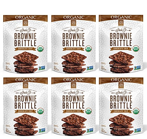Chocolate Organic Brownie (Brownie Brittle Organic Chocolate Chip, 5 Ounce, 6 Count)