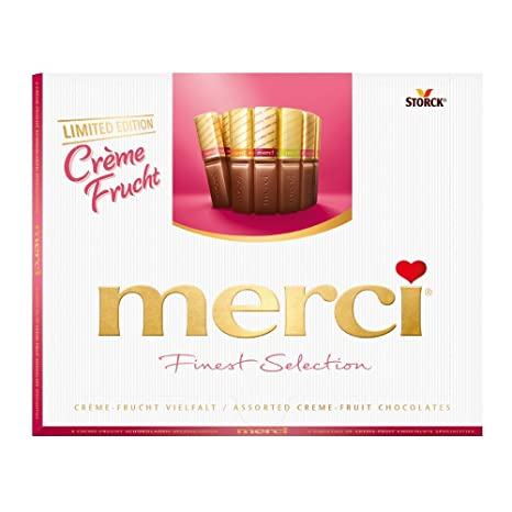 merci Finest Selection Creme-Frucht Vielfalt, 250 g: Amazon.de ...