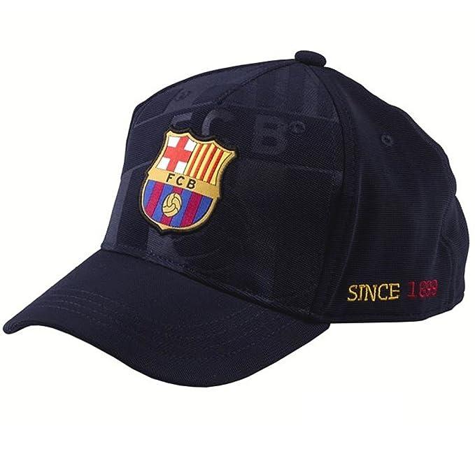 Gorra F.C. Barcelona soccer marino talla: Junior: Amazon.es: Ropa y accesorios