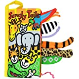 Malltop Soft Animal Jungly Tails Cloth Book Sets Baby Early Development Learning Education Toy 8.3x4.3""