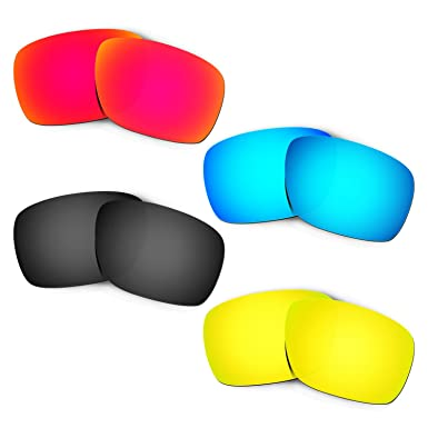 HKUCO Mens Replacement Lenses For Oakley Eyepatch 2 Red/Blue/Black/Titanium Sunglasses f2H0RUs