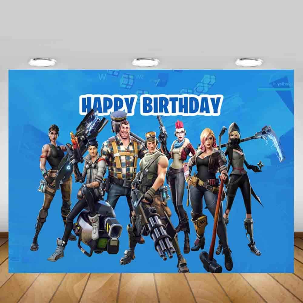 Gemten Battle Royale Party Supplies 7X5 FT Photo Backdrop for Boy Baby Shower Birthday Party Decorations
