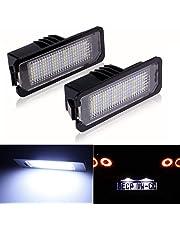 DONGMAO Luces de matrícula Luz de la Placa de la Licencia de 2Pcs LED para V