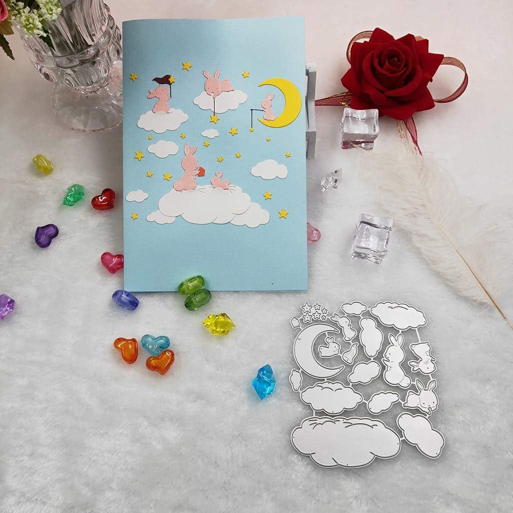 Wuweiwei12 Matrice de d/écoupe en m/étal Motif lapin Bonne nuit