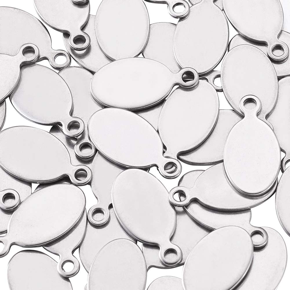Fashewelry 20Pcs Stainless Steel Tiny Cross Charms 12x7mm Religious Cross Pendants for DIY Jewelry Craft Making