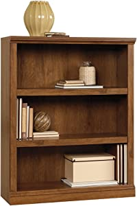 "Sauder 410372 3-Shelf Bookcase, L: 35.28"" x W: 13.23"" x H: 43.78"", Oiled Oak finish"