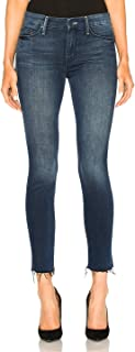 product image for Looker Ankle Fray - Skinny Jeans with Raw Hem in Repeating Love