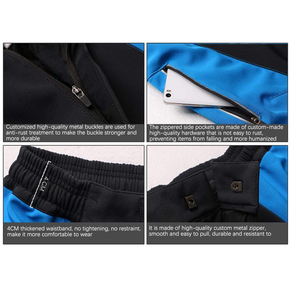 heling896 Pantaloni da Montagna da Uomo Allaperto Pantaloni Impermeabili in Pile Pantaloni da Alpinismo da Sci Invernali in Morbida Pelle di Velluto Invernale Antivento