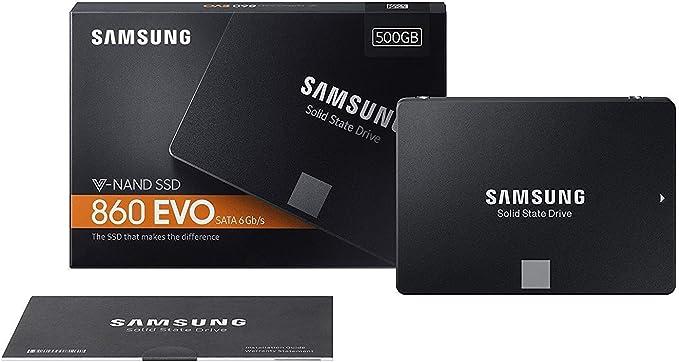 Samsung 860 EVO MZ-76E500B/EU - Disco Duro sólido Interno de 500 ...