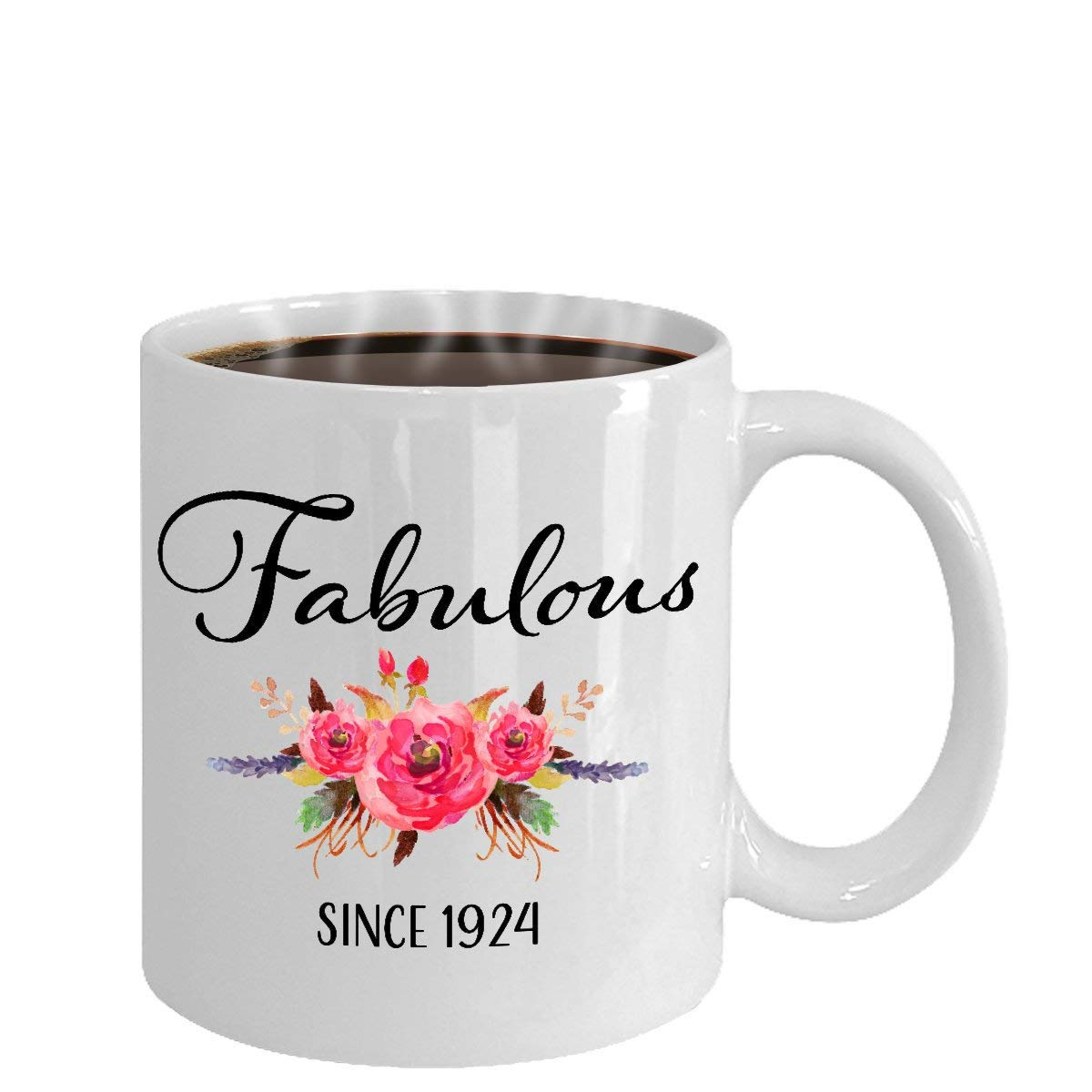 Amazon 94th Birthday Ideas 94 Year Old Woman Gifts For Women Her Fabulous Since 1924 Mug