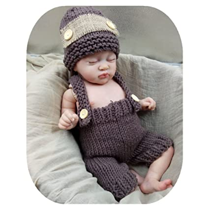 345b4dd127461 Image Unavailable. Image not available for. Color  Coberllus Newborn Baby  Photography Props Boy Girl Photo Shoot Outfits Crochet Knitted Clothes  Lovely Hat ...