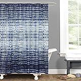 Cheap Lush Decor Lush Décor Arney Tie Dye Window Curtain Panel, 72″ x 72″, Indigo